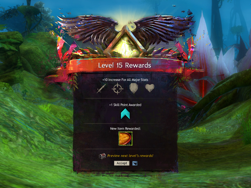 """Celebratory Illustration & UI created for the """"Level Up Guide"""" as part of an improvement to the new player experience"""