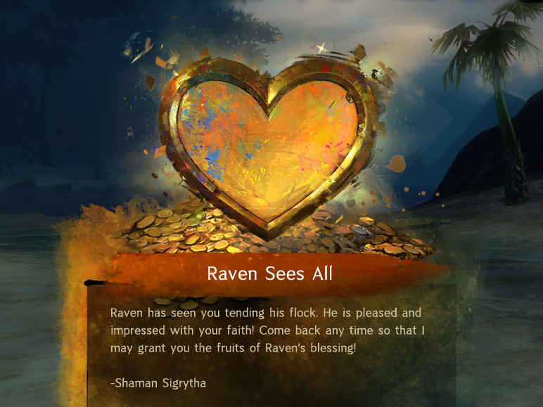 Illustratedheart painted for the celebration UI the player sees after completing a renowned heart quest