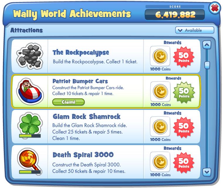 Achievements UI • Detail Page