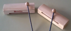 Second, hollow, wooden tempo blocks are used to make the sound of horse hooves clip-clopping.