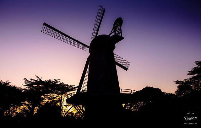 DUTCH . . . . #1219photography #goldengatepark #windmill #dutchwindmill #sunset #silhouette #pentax