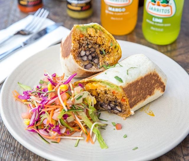 Chicken Burrito from Village Cantina in Yarraville  #chickenburrito #burrito #chicken #villagecantina #mexican #yarraville #jarritos #beans #salad #ubereats #melbournefood #melbourneeats #nowlookhear