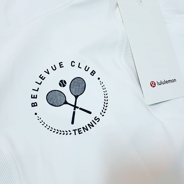 Of course these things go together!  If you know about Bellevue, you know this was a high pressure situation.  #lululemon #lulu #bellevue #bellevue  #bellevueclub #tennis