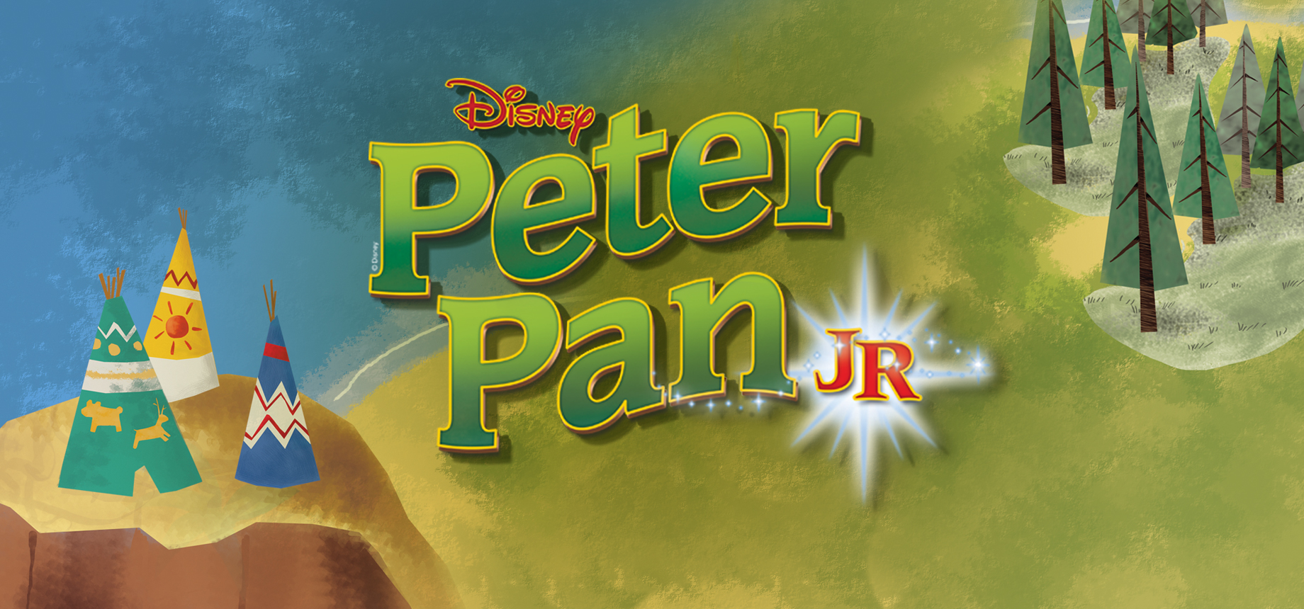 Based on the Disney film and J.M. Barrie's enchanting play,  Disney's Peter Pan JR.  is a modern version of the timeless tale about a boy who wouldn't grow up... with no flying required! The score includes new arrangements of classic Disney songs and a story featuring one rousing adventure after another.  Wendy Darling loves to tell stories to her brothers, Michael and John. But when her father announces she must move out of the nursery, Peter Pan comes to visit the children and whisks them away to Neverland. Their journey introduces them to the Lost Boys, Mermaids, Indians and even the infamous pirate, Captain Hook!  It's Peter to the rescue when Wendy is taken captive by the dreaded captain, who has his own sinister plans in mind for our hero.   Disney's Peter Pan JR.  is a magical story with countless opportunities for clever staging and design, and large ensemble numbers featuring cliques of classic characters.