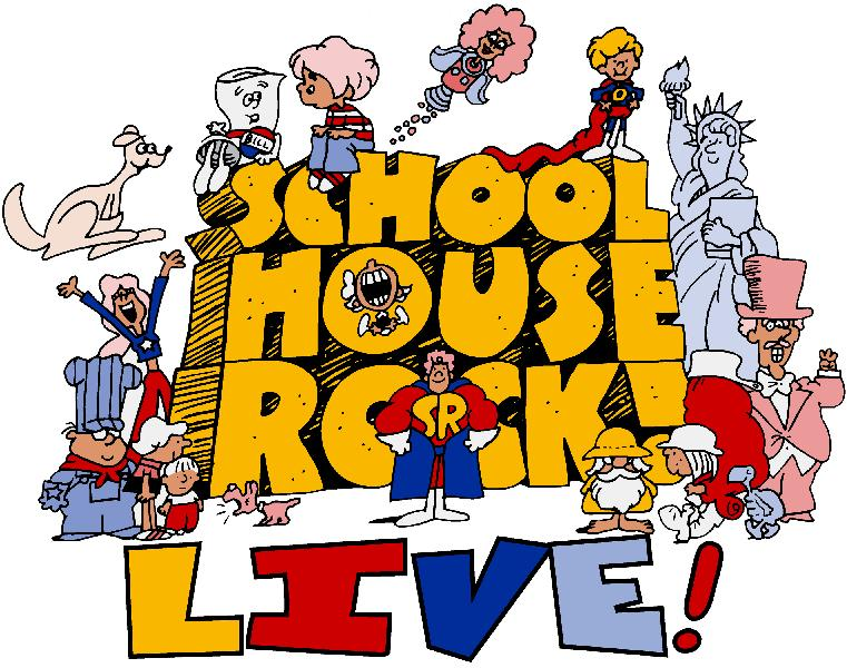"""The Emmy Award-winning Saturday morning educational cartoon series and pop culture phenomenon is now the basis for one of the most fun and easily mounted musicals ever to hit the stage,  Schoolhouse Rock Live! JR.   This energetic musical, follows Tom, a young schoolteacher, who is nervous about his first day of teaching. He tries to relax by watching TV, when various characters representing facets of his personality emerge from the set and show him how to win his students over with imagination and music. Memorable songs as """"Just a Bill,"""" """"Lolly, Lolly, Lolly"""" and """"Conjunction Junction"""" bring his lesson plans vividly to life."""