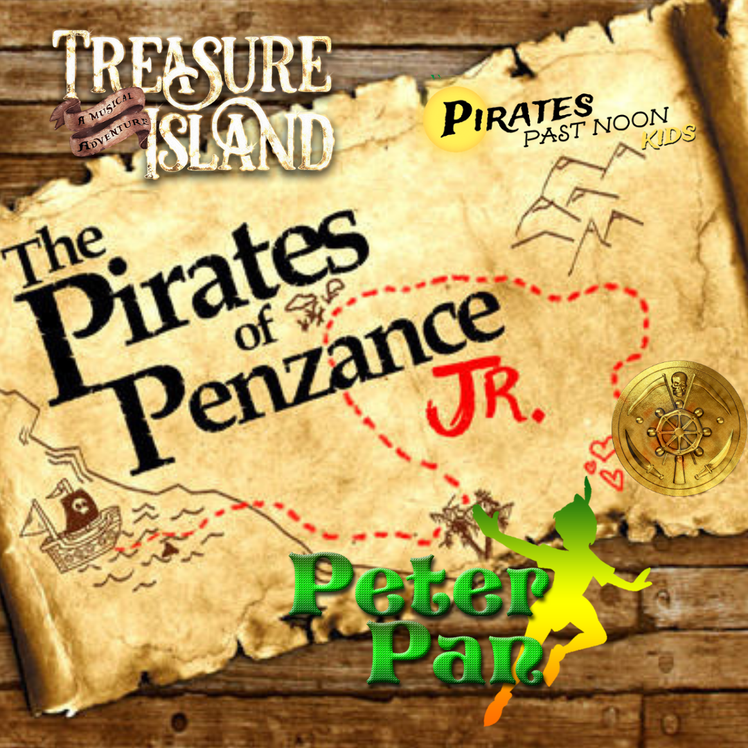Pirate Palooza Art and Theatre Camp   Tuition:  $100   June 3rd-7th   12:30-2:30   ages 6-10     *SALE* Pick two consecutive camps and stay for lunch in between. Use coupon code PICK-TWO to receive $40 off your second camp! Can be paired with Frozen Mini Camp.     Description: Arrr… Matey! Come to pirates cove for pirate palooza at Spark! We will explore all of the best in pirate theatre - Treasure Island, Pirates Past Noon, The Pirates of Penzance, and Peter Pan. Dive into treasure box theatre, make your very own treasure map, sing like a sailor and more! Sign up or you will walk the plank!