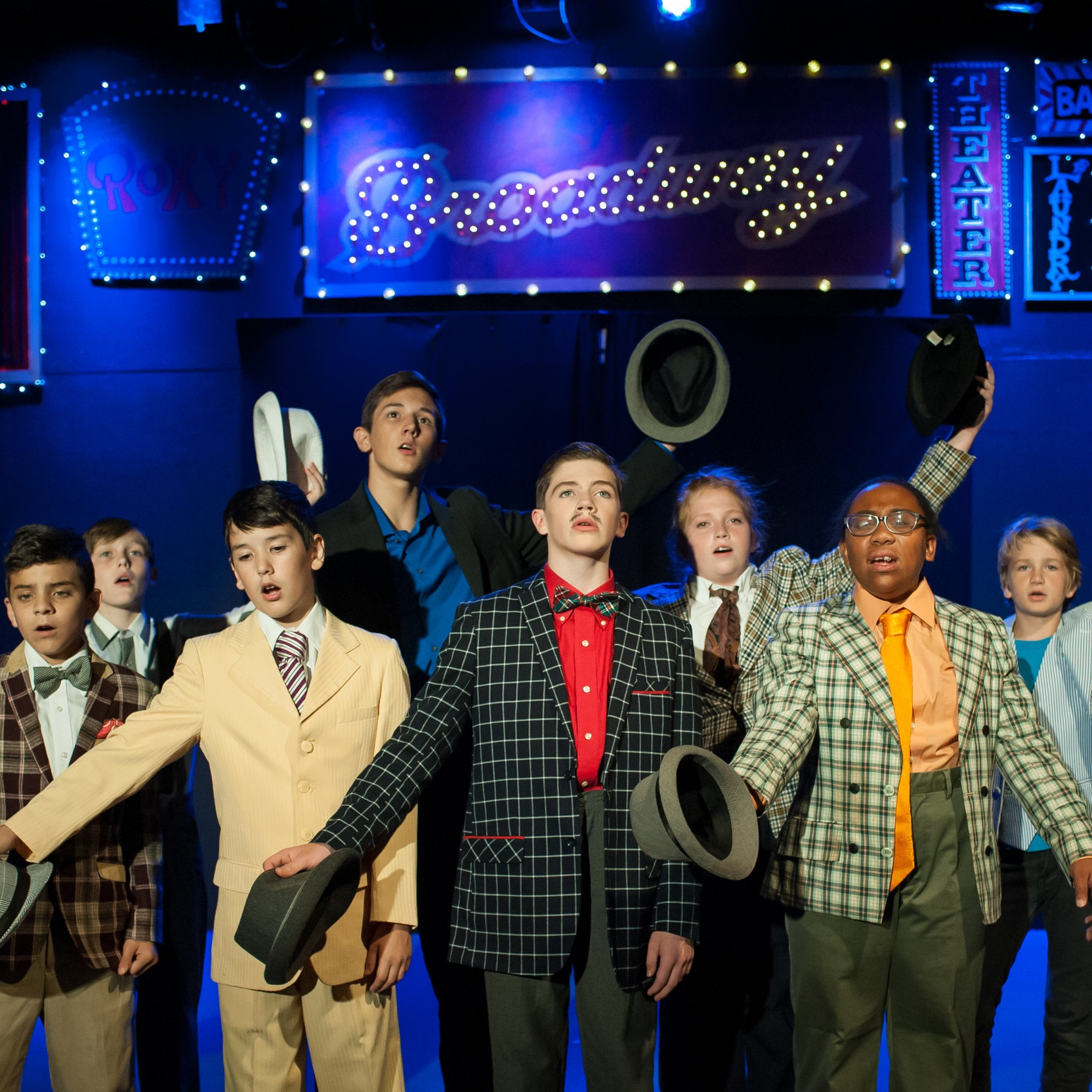 Boys take Broadway   Tuition:  $100   July 8th-12th   10:30-12:30   ages 10+     *SALE* Pick two consecutive camps and stay for lunch in between. Use coupon code PICK-TWO to receive $40 off your second camp! Can be paired with Grease Musical Review.     Description:  We are taking all of the best highlights from Guys and Dolls, West Side Story, Newsies, and more! Join us for a week of theatre with the boyz!