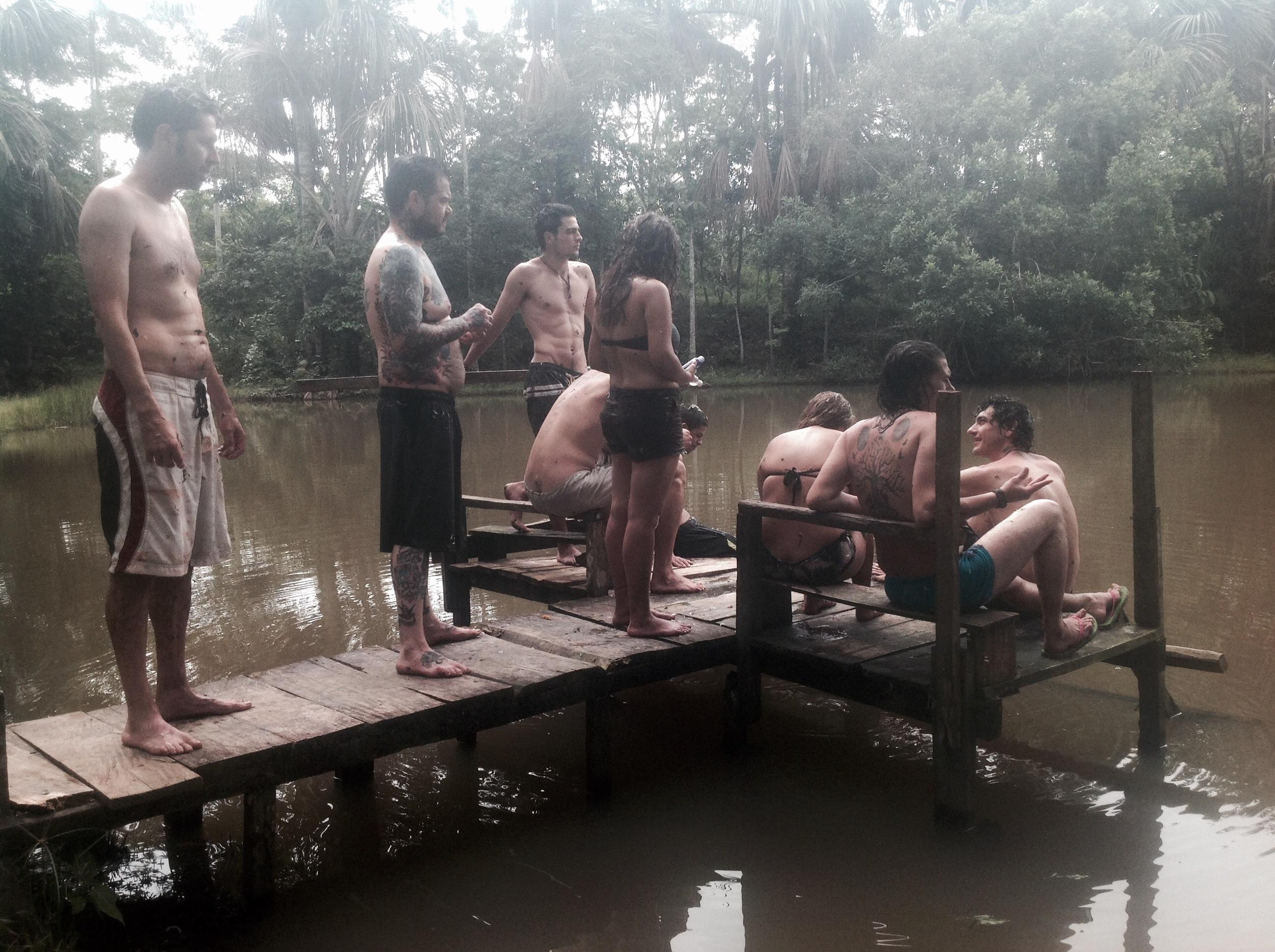 Chilling at the lake with my Kapitari family.