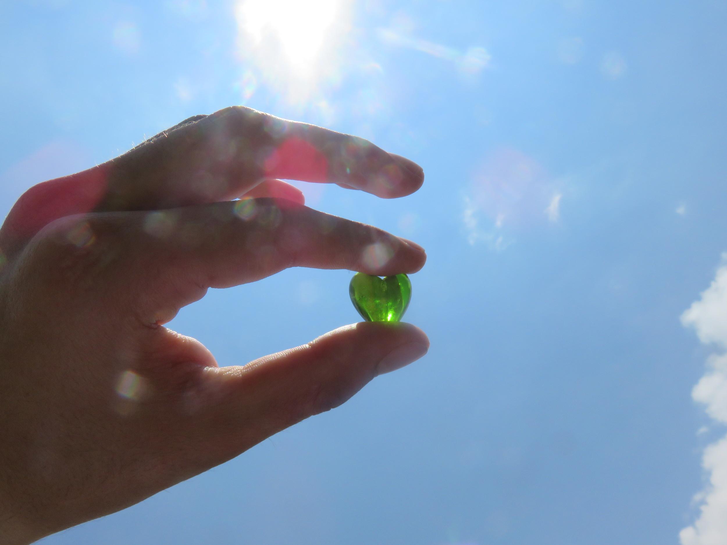 heart-shaped crystal