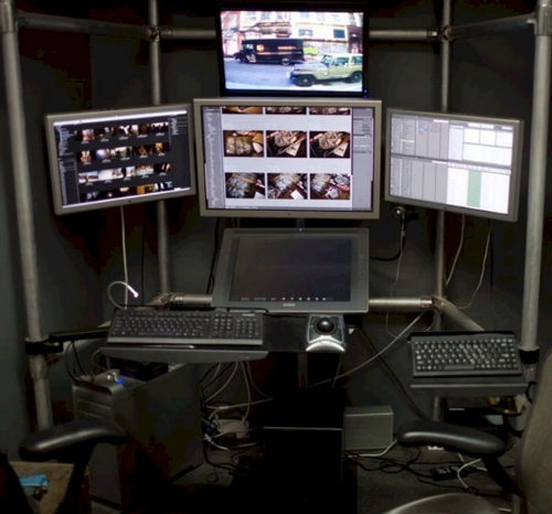 Five monitor setup  (Battlestation, 2018)
