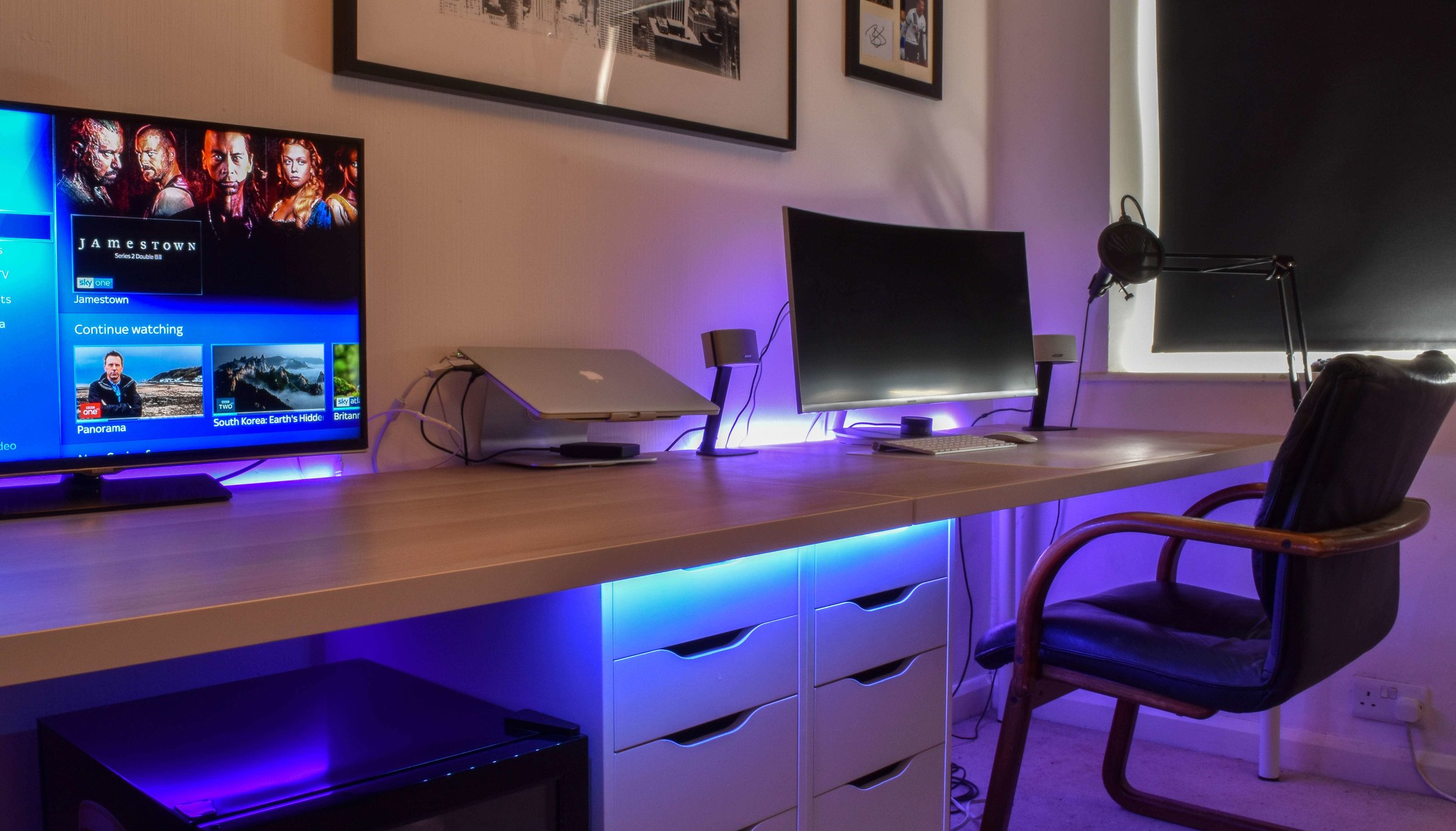 Office With Ambient Lighting Under 10