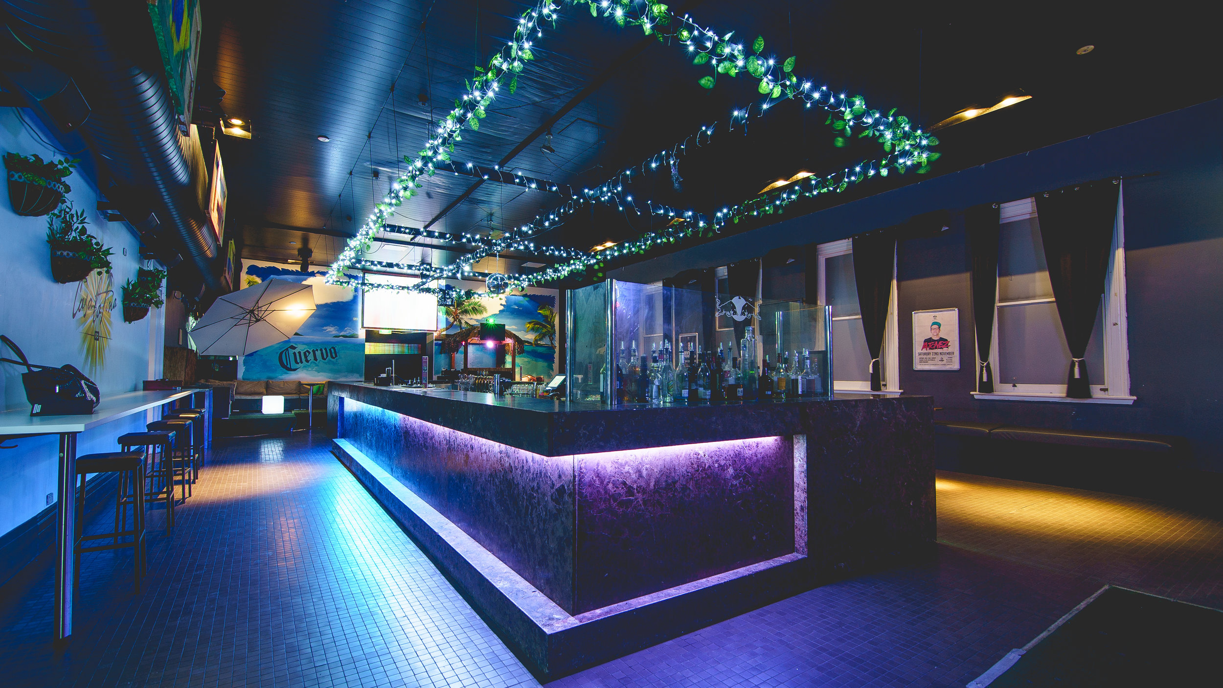 740 BAR 740 Bar is our space downstairs, the ultimate party starter! With its large rectangular bar, seating, and spacious dance floor, the room can cater to larger events. Make a statement with personalised projector and screen, cordless microphone, and a DJ booth.  Capacity: 250