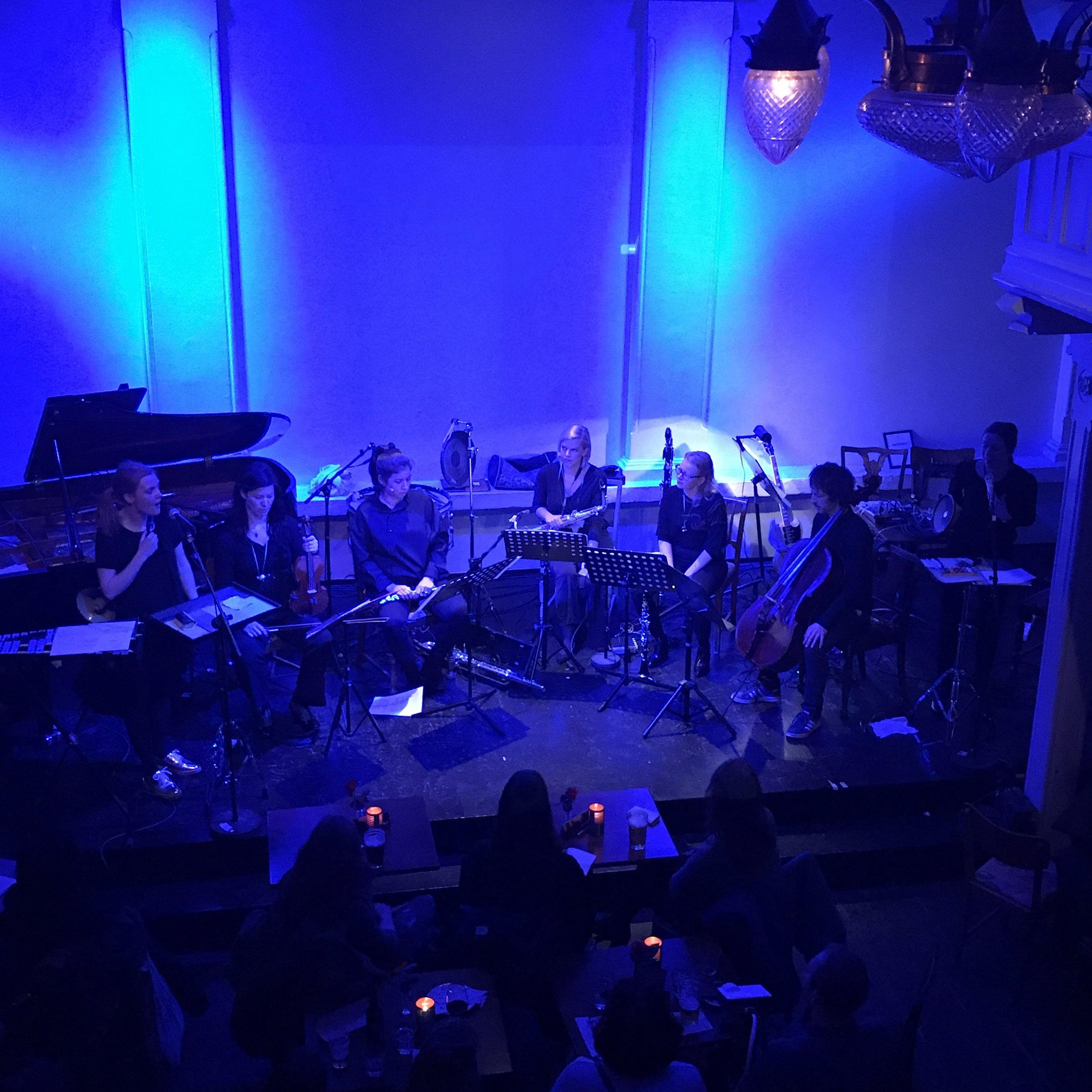 Ensemble neoN: Lyden av noe som allerede har forsvunnet 3 - Caféteateret 23. January 2019. Photo: Ingvild Langgård