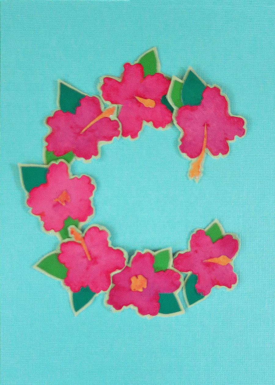 Letter C Hibiscus