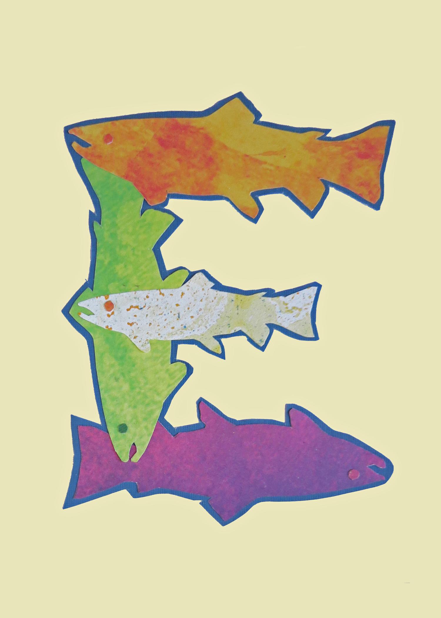 Letter E Fish