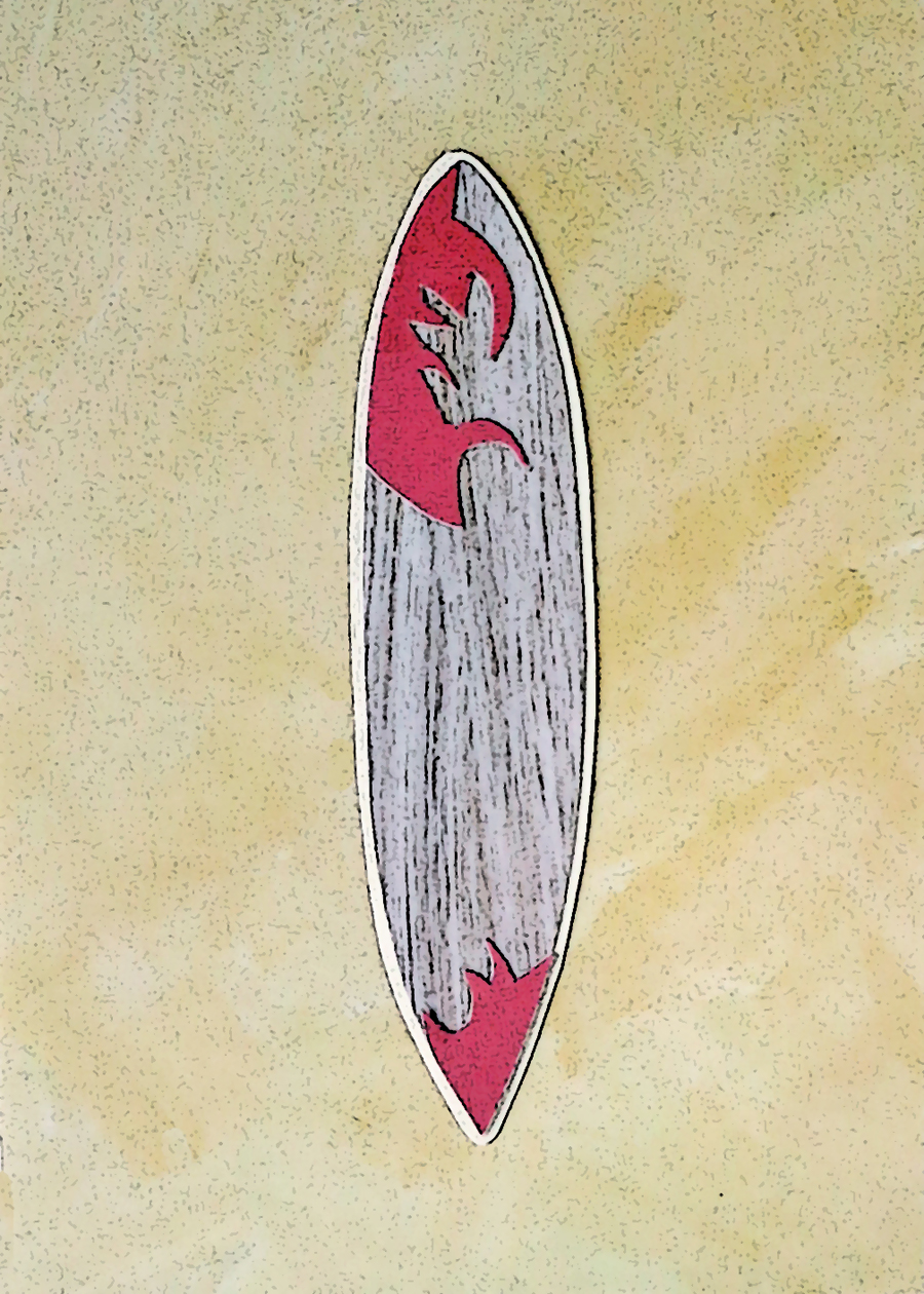Letter I Surfboard