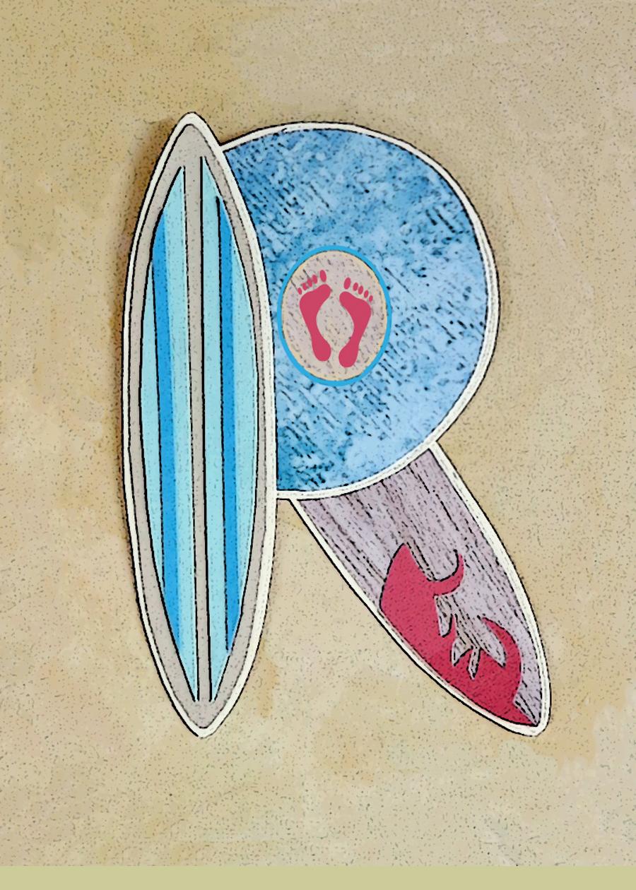 Letter R Surfboards Blue