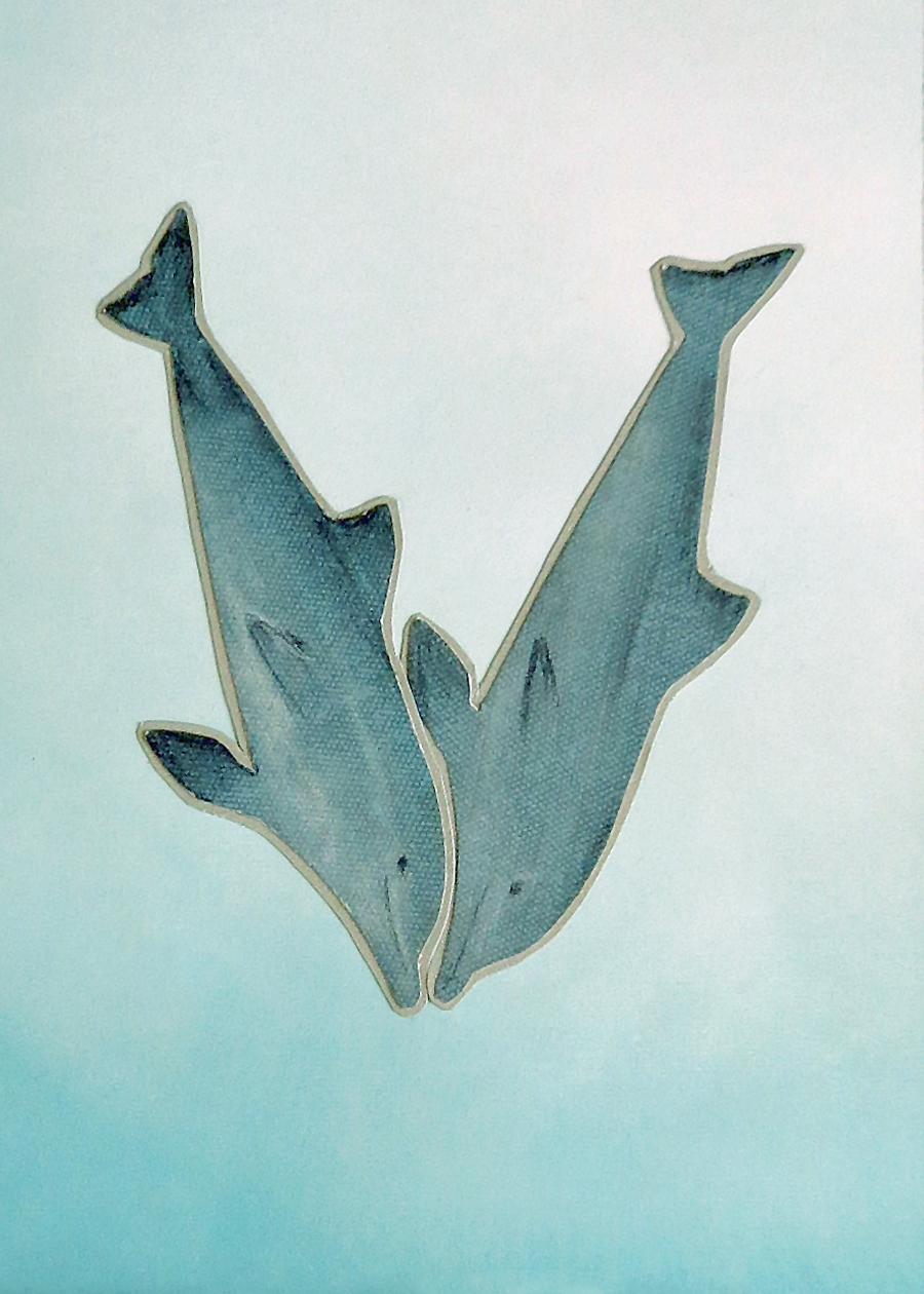 Letter V Dolphin