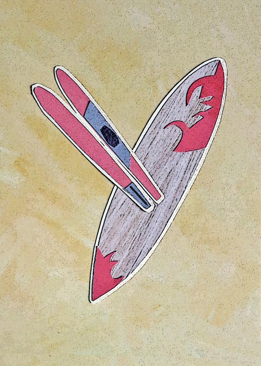 Letter Y Surfboard