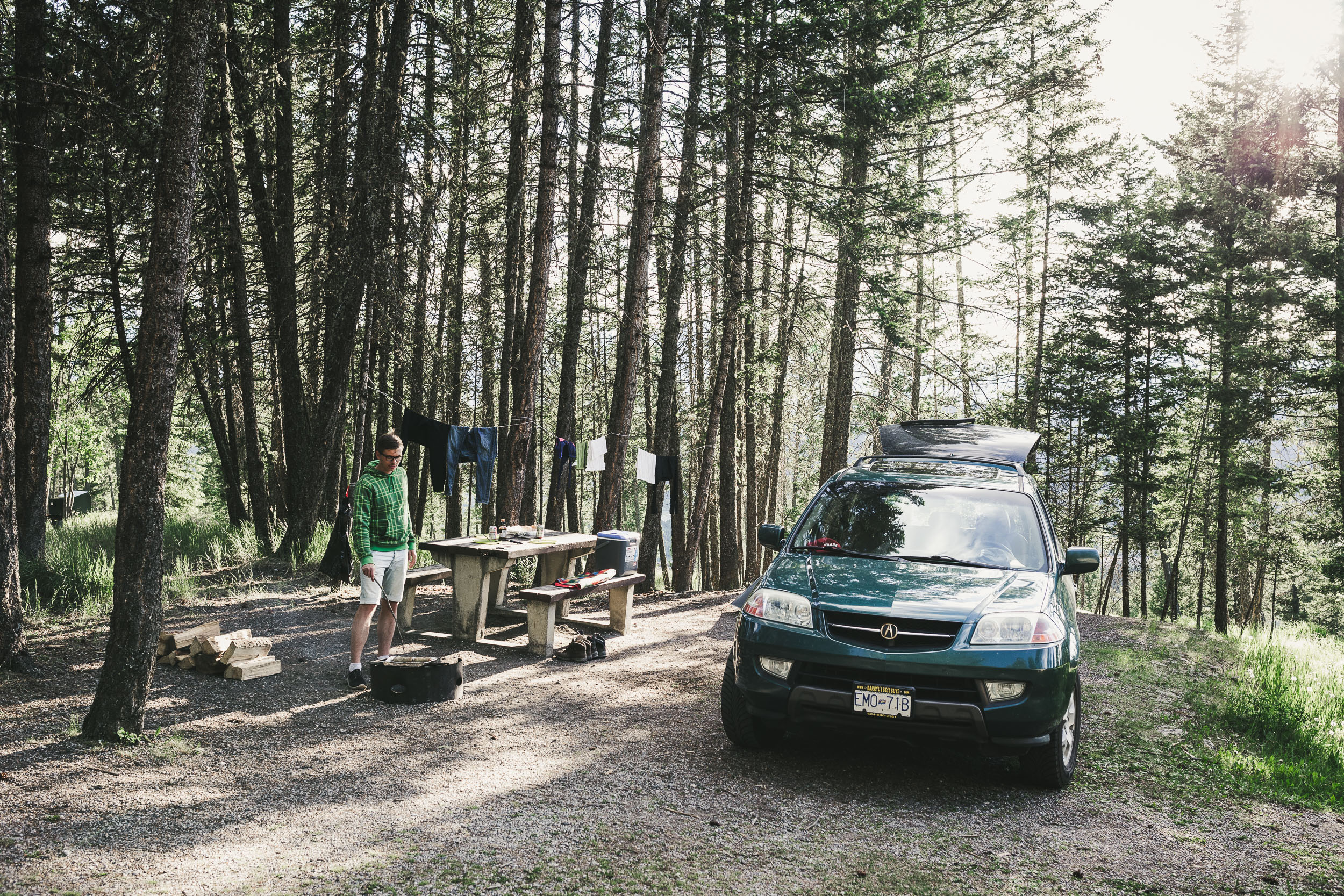 Campground in Kooteney