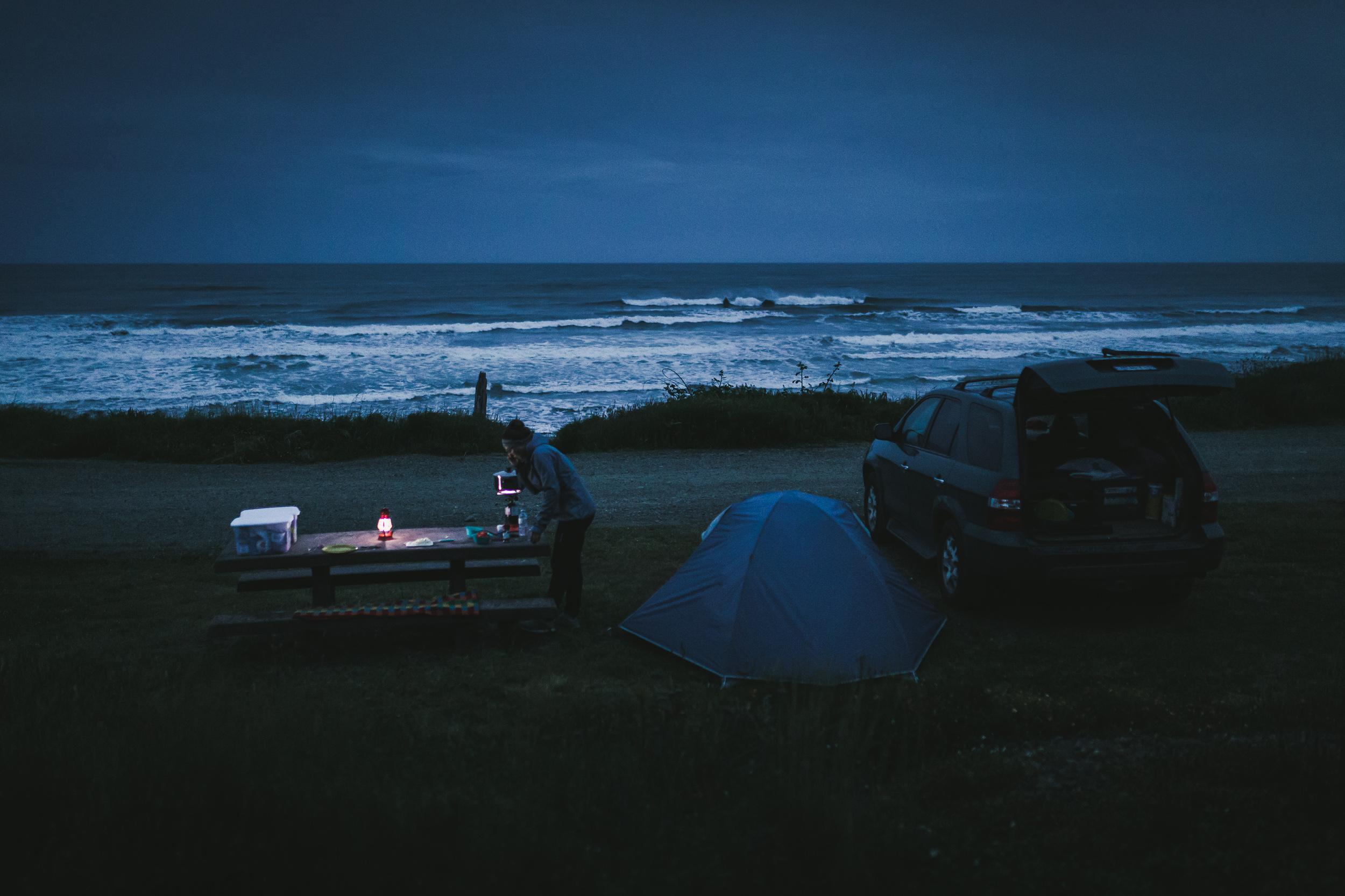 Erster Abend an der Küste