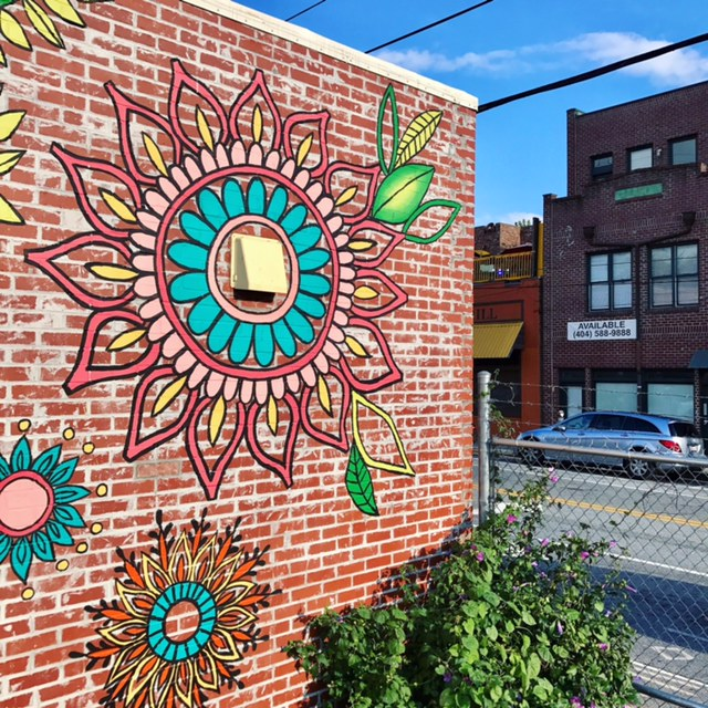 Georgia Beer Garden Mural, Edgewood, Atlanta, 2017