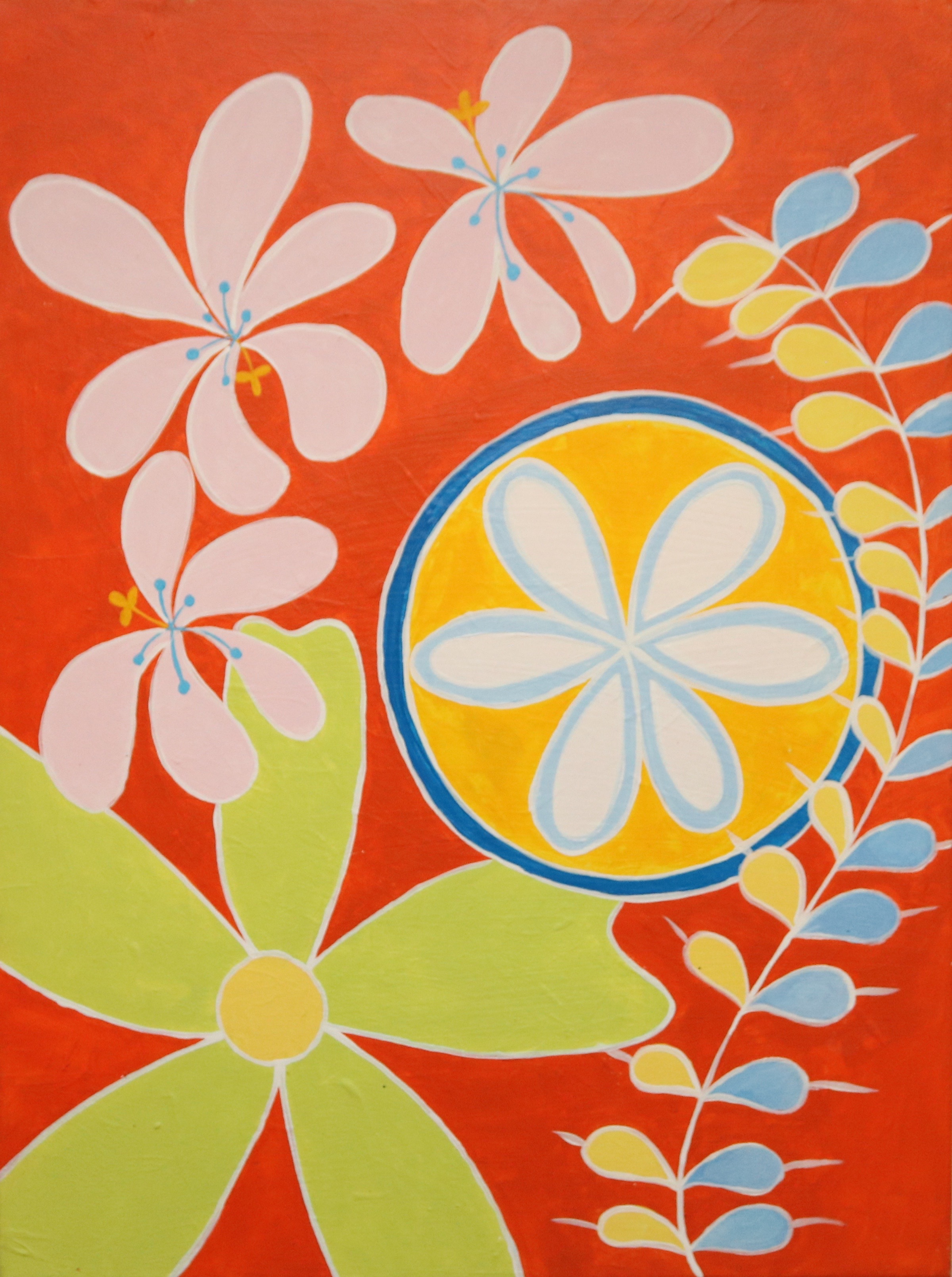 Painted by Meagan Jain for the Hilma af Klint Paint Party Workshop, inspired by  Paintings for the Temple
