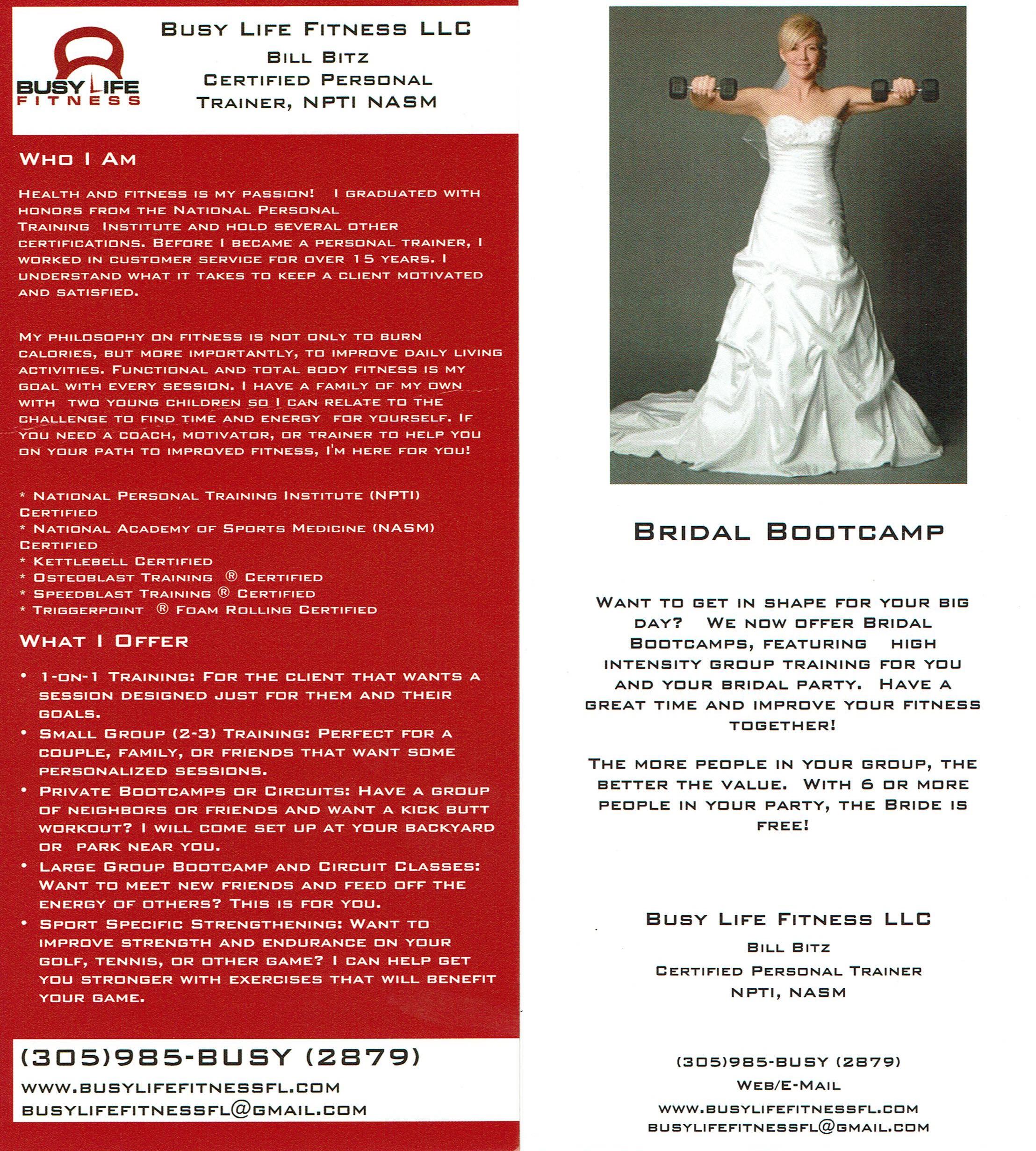 BLF Bridal Bootcamp