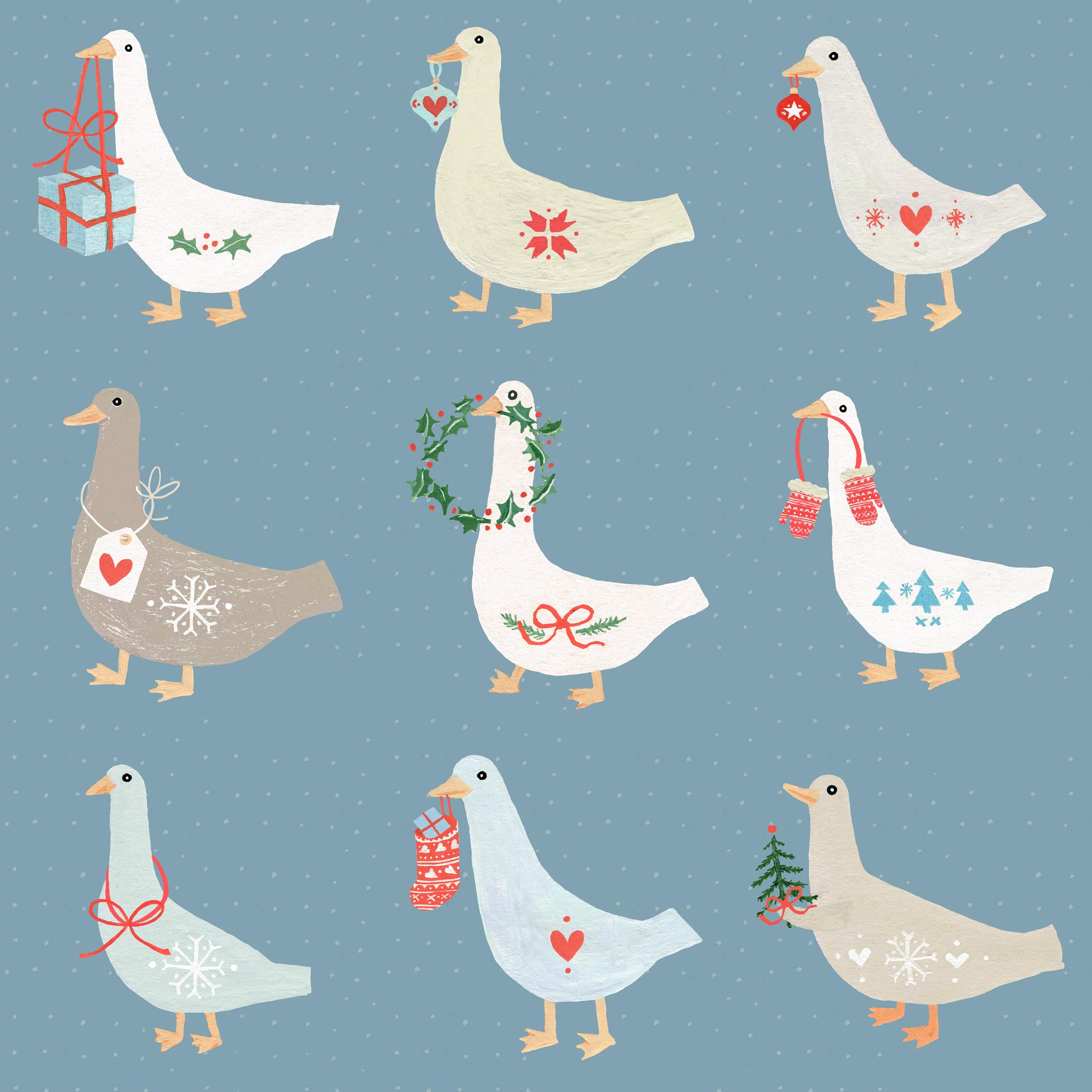 Christmas Geese Fiona Miles.jpg