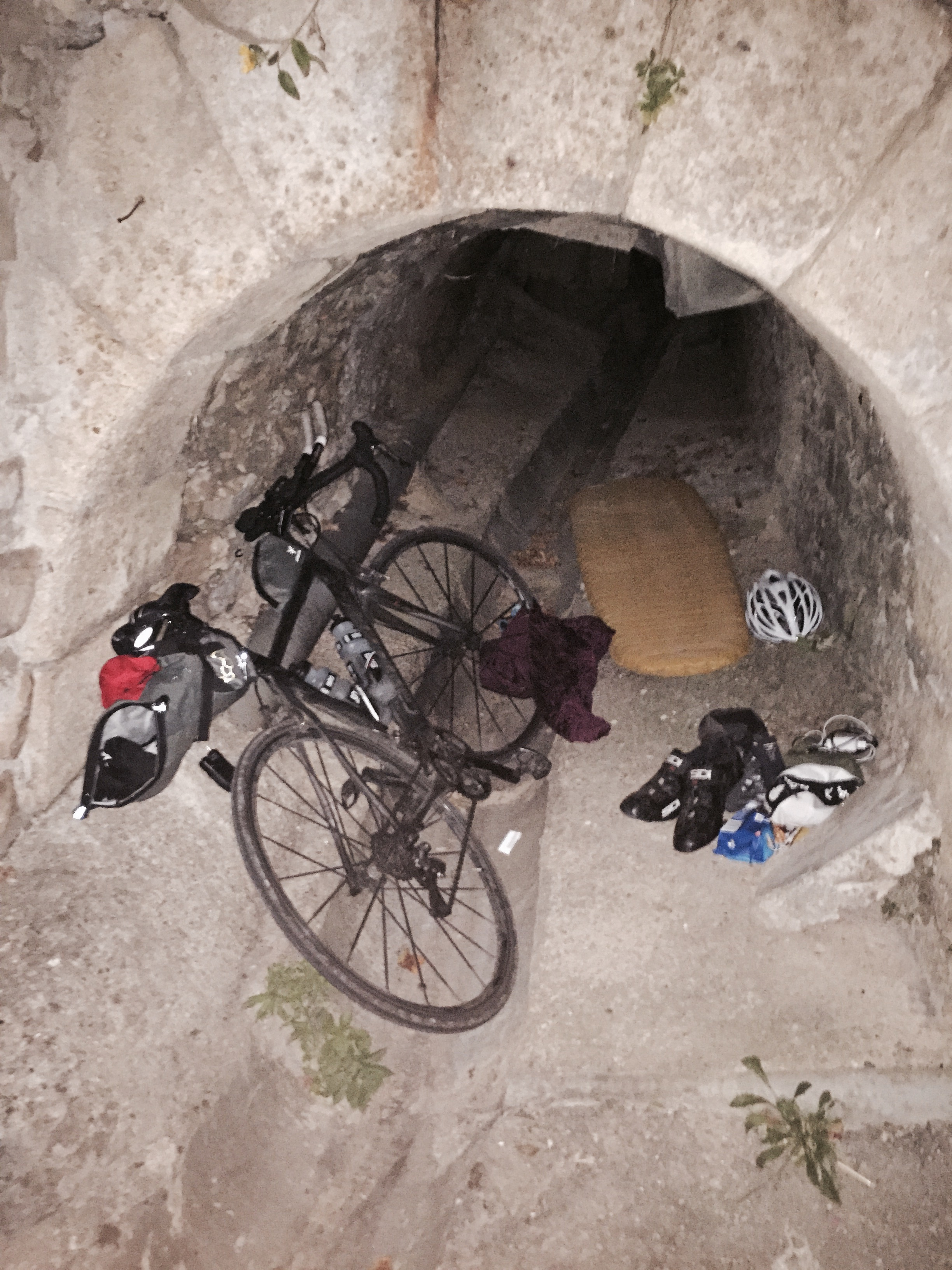 Camping in a storm drain