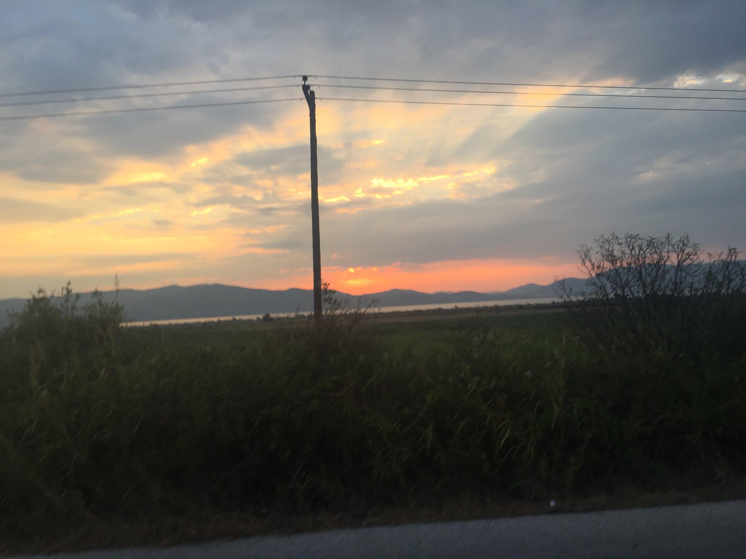 In Greece, overlooking Macedonia
