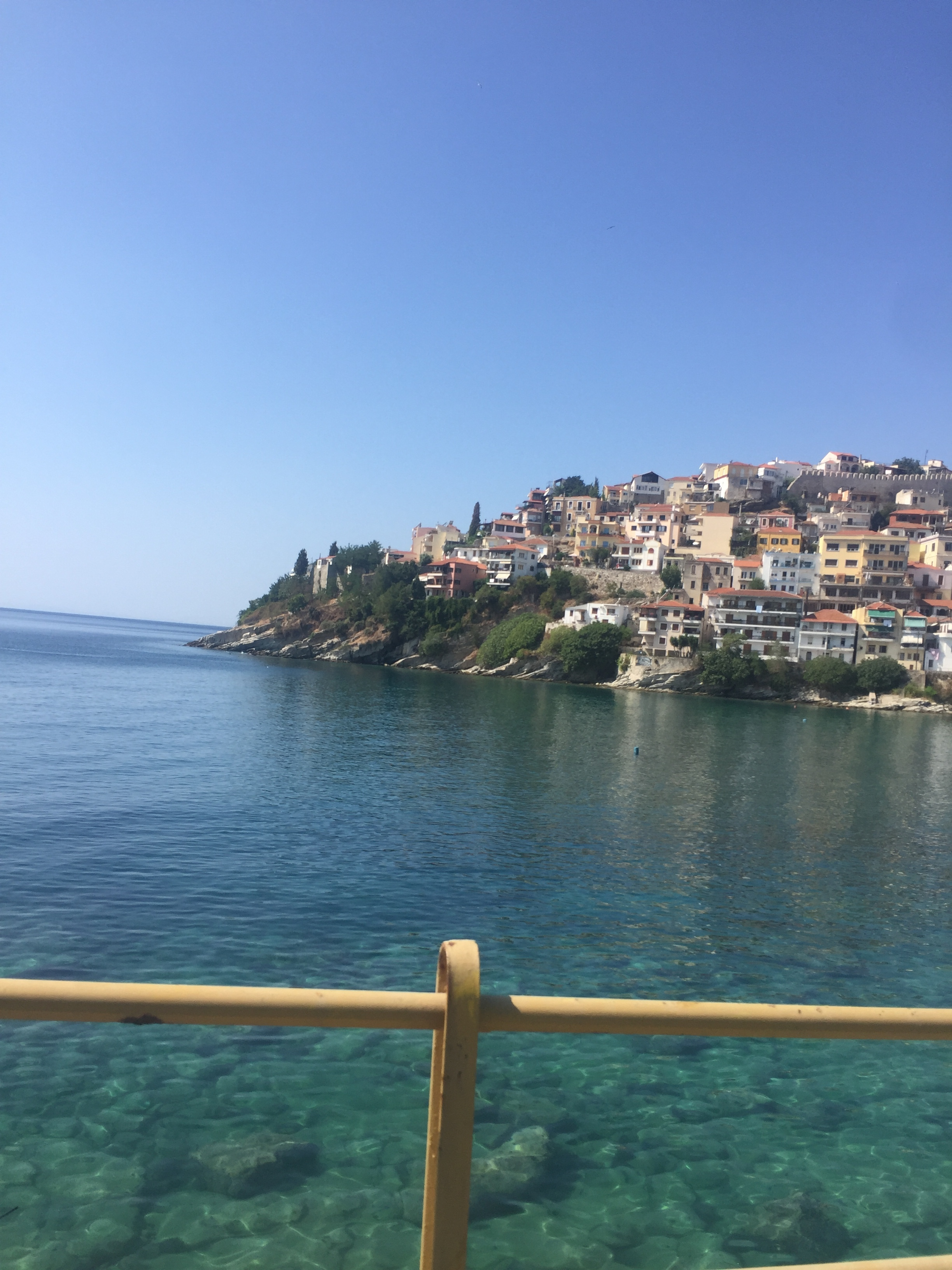 Kavala - after cycling through much of the night