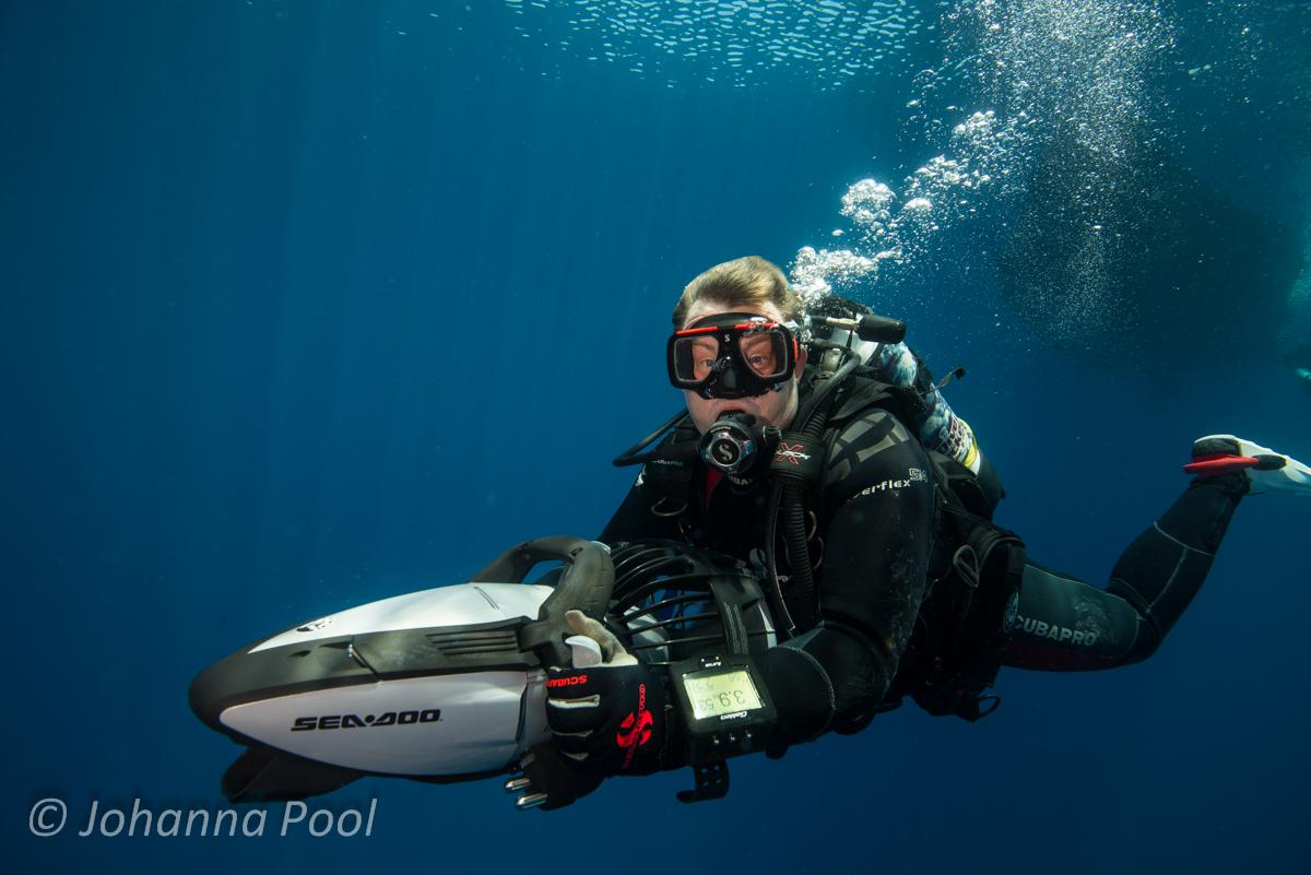 Scooter Scuba Diver