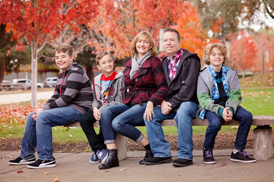 Sue and her sweet family.