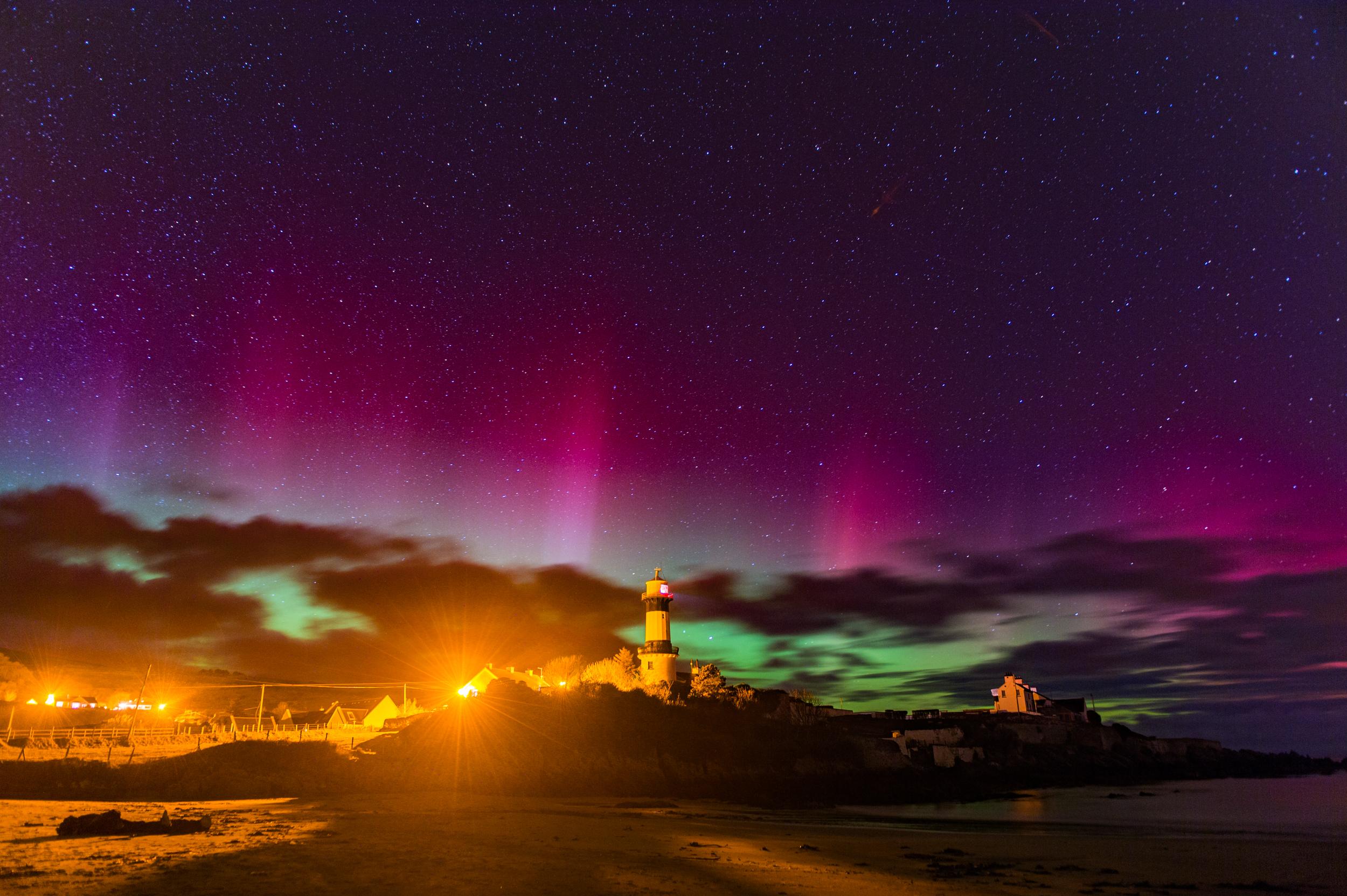 Shrove Beach Northern Lights