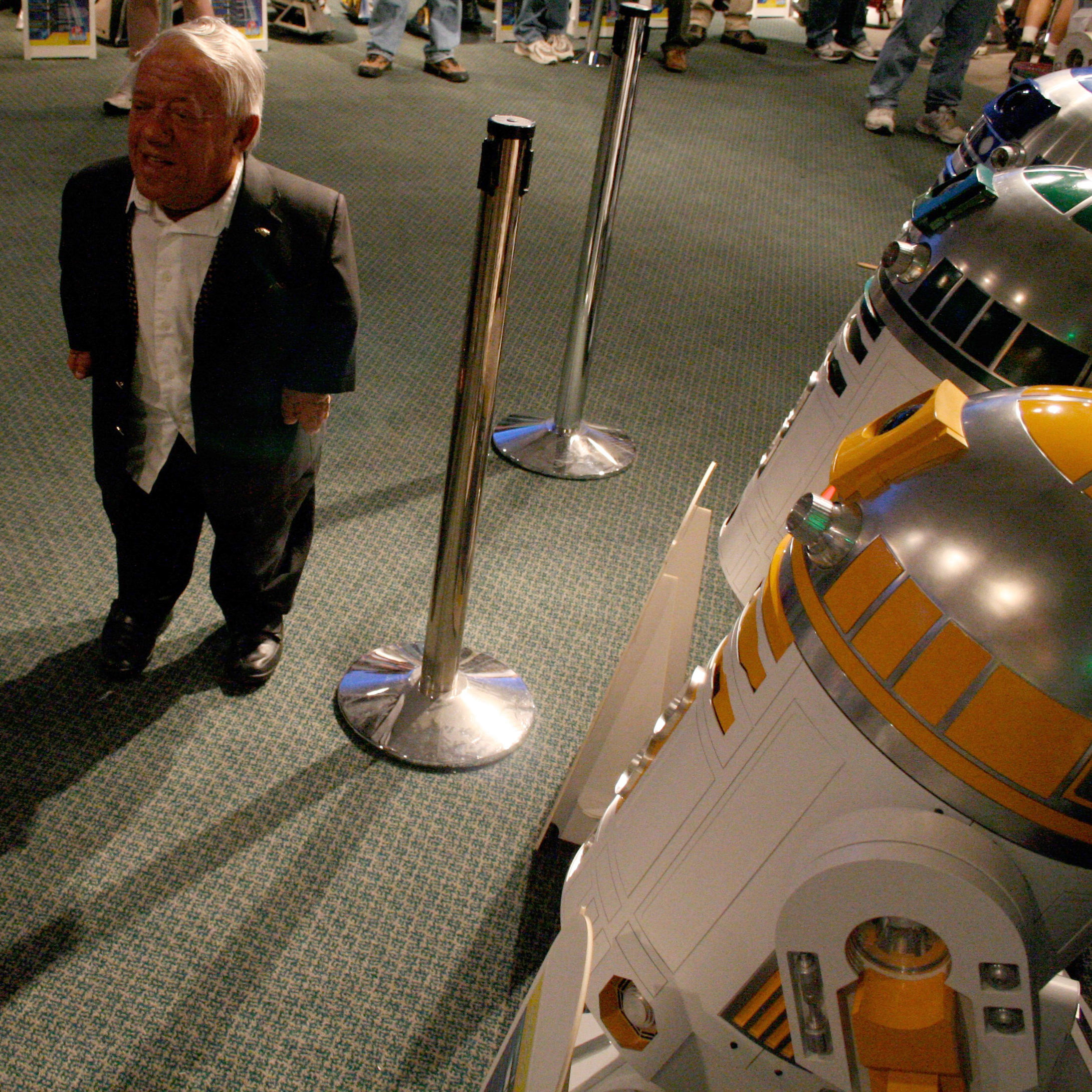 With Kenny Baker at CIV, Los Angeles in 2007.