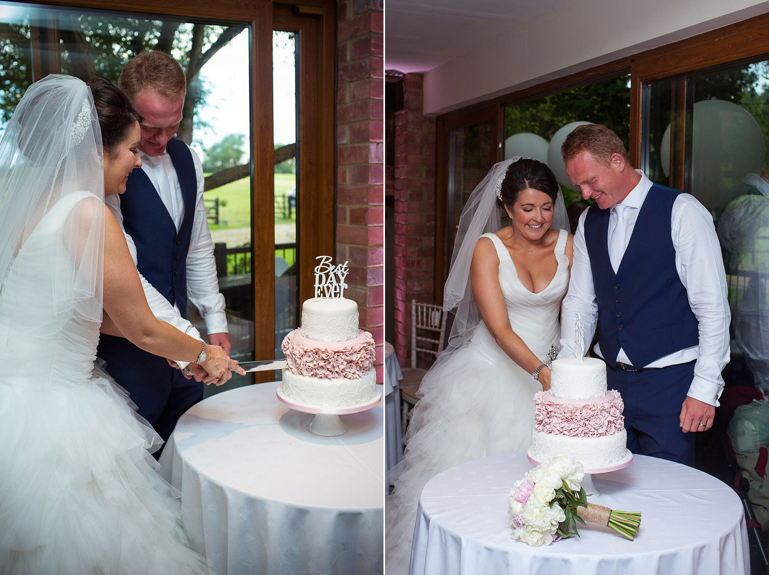 Wedding at Old Brook Barn - Cake Cutting