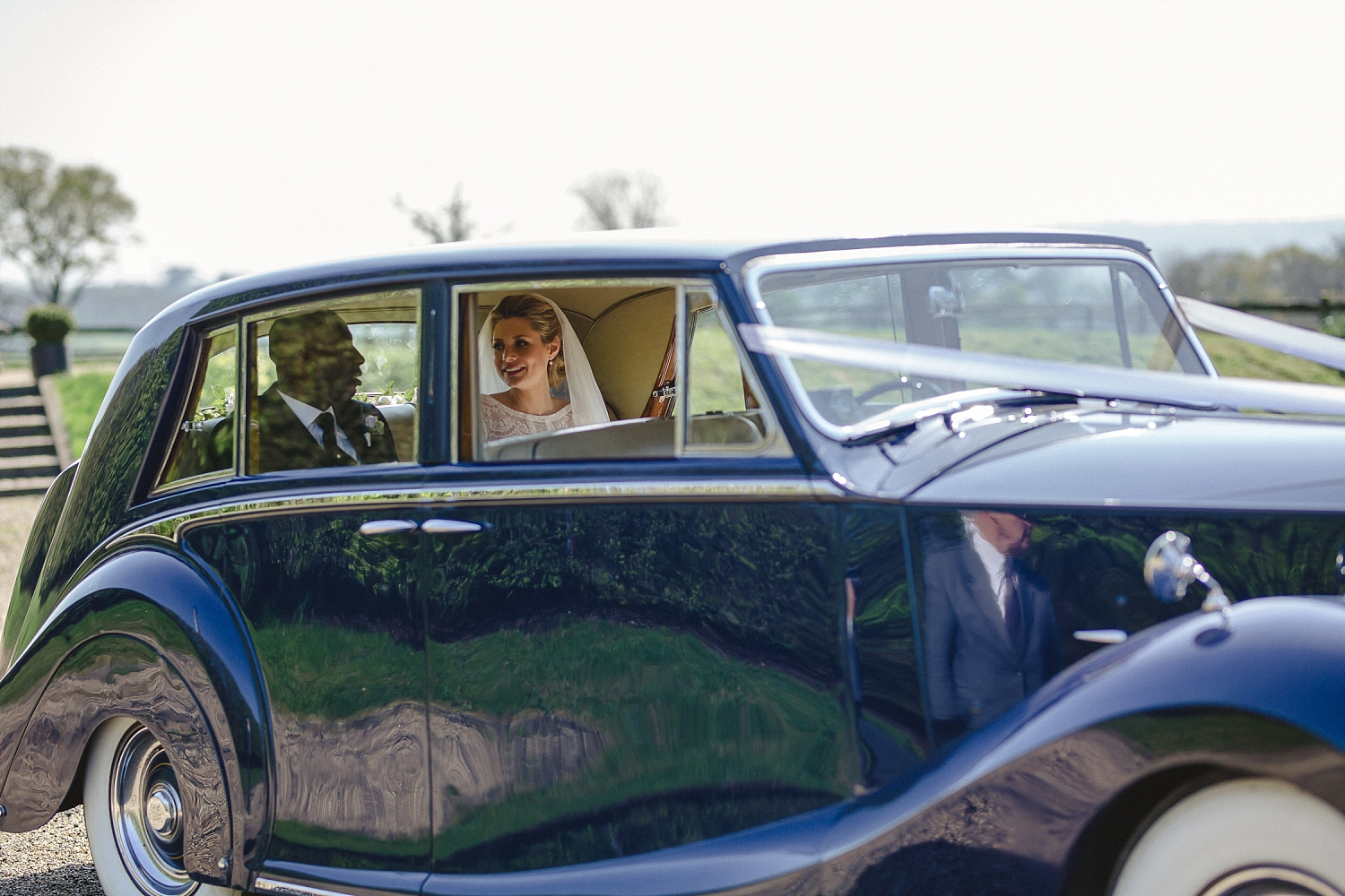 Gaynes Park Wedding - Essex Wedding Photographer - Vintage Wedding Car
