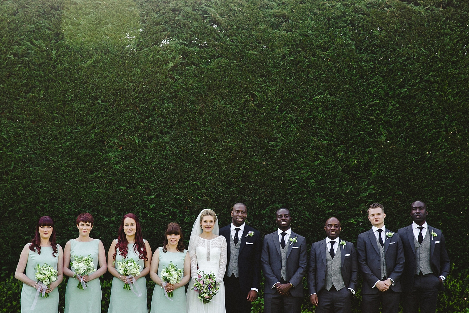 Gaynes Park Wedding Party Shot