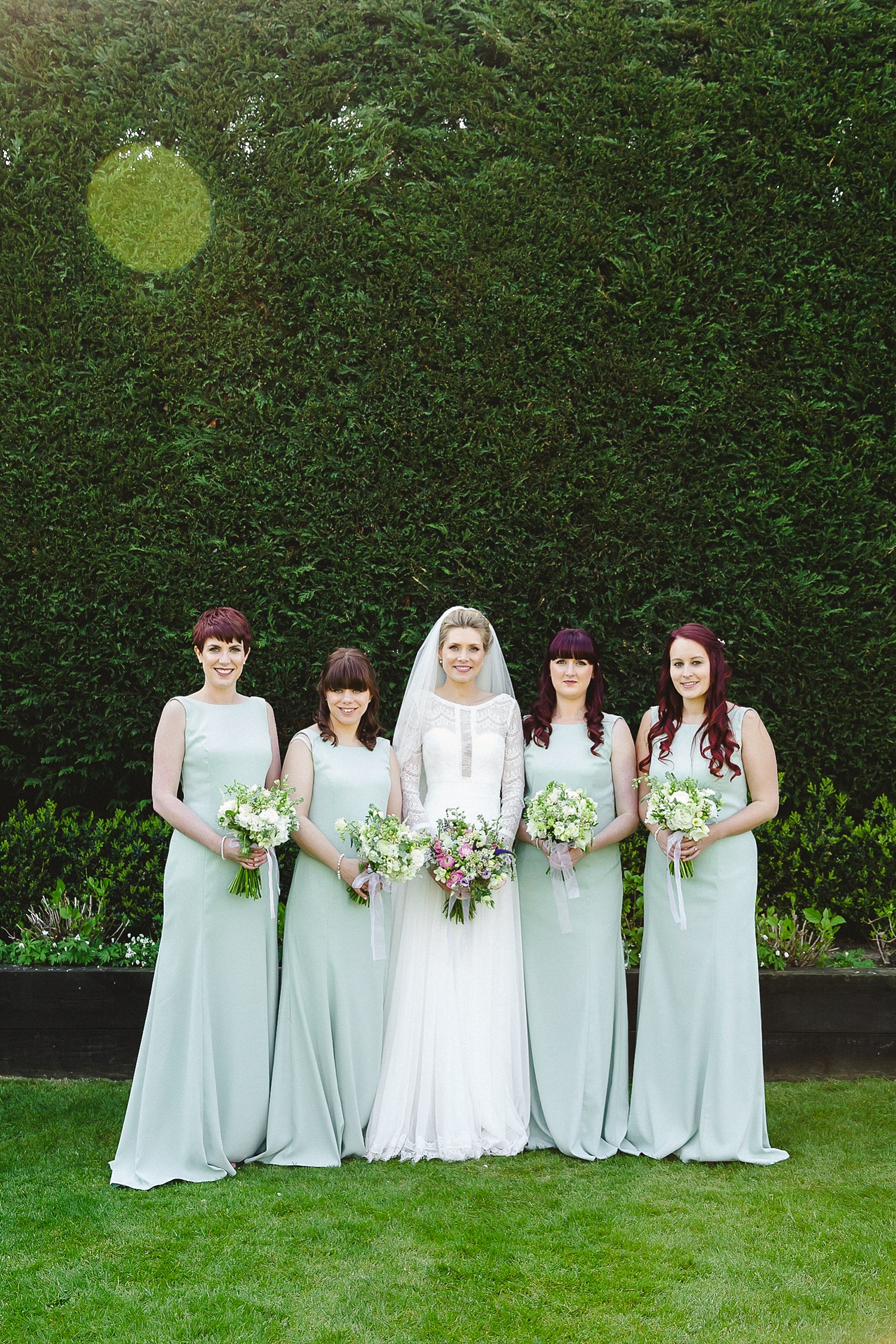 Gaynes Park Wedding Bridal Party