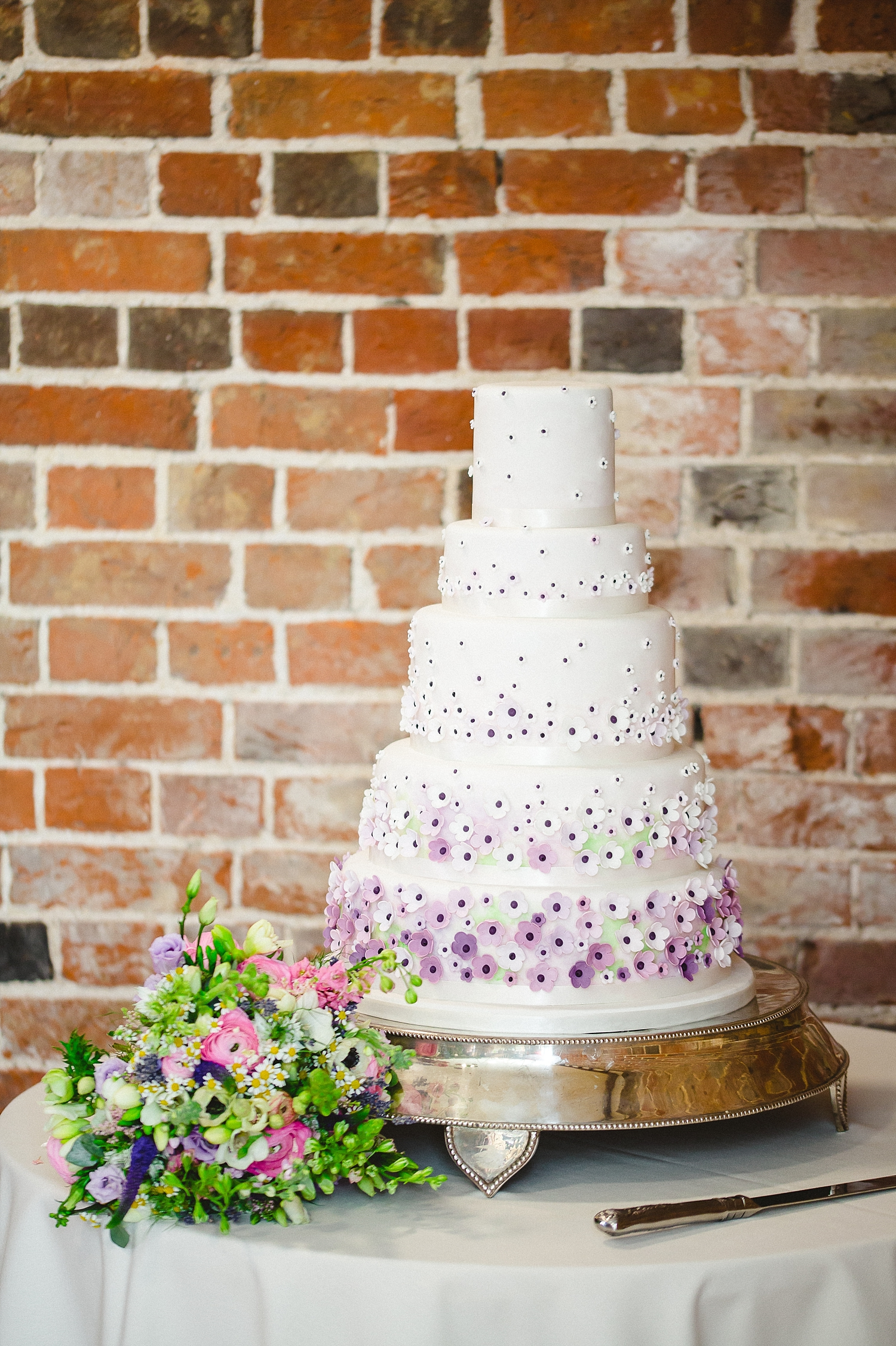 Gaynes Park Five Tier Wedding Cake