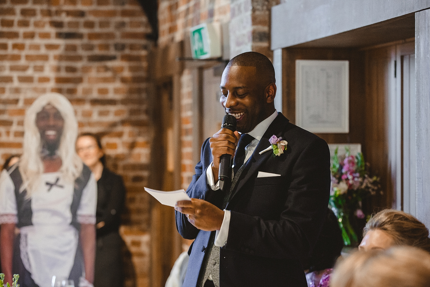 Gaynes Park Wedding - Essex Wedding Photographer - Groom's Speech