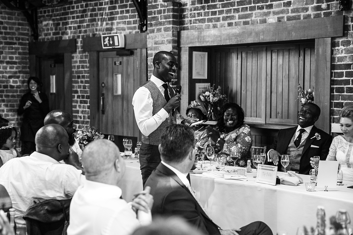 Gaynes Park Wedding - Essex Wedding Photographer - Best Man Speech