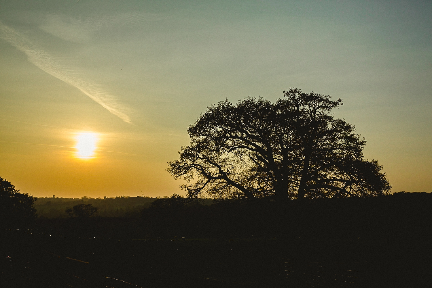 Gaynes Park Wedding Photographer - Views at Sunset