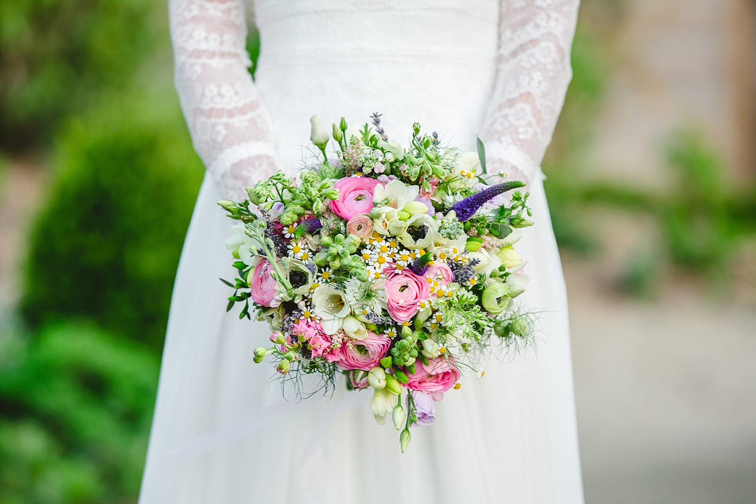 Gaynes Park Wedding Photographer - Bridal Bouquet