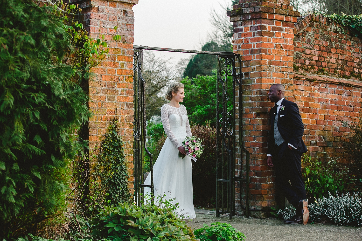 Gaynes Park Wedding Photographer - Portrait in the Gardens