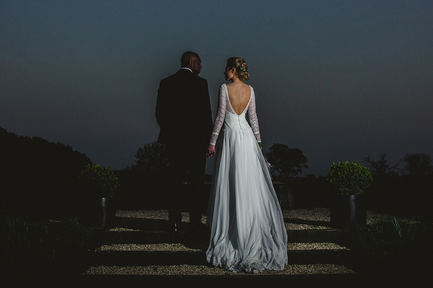 Gaynes Park Wedding Photographer - Evening Portrait