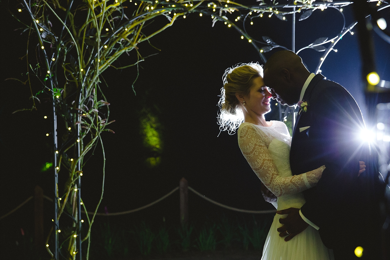 Gaynes Park Wedding Photographer - Romantic Portrait at Night