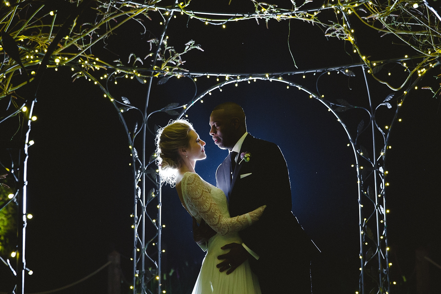 Gaynes Park Wedding Photographer - Night time portrait
