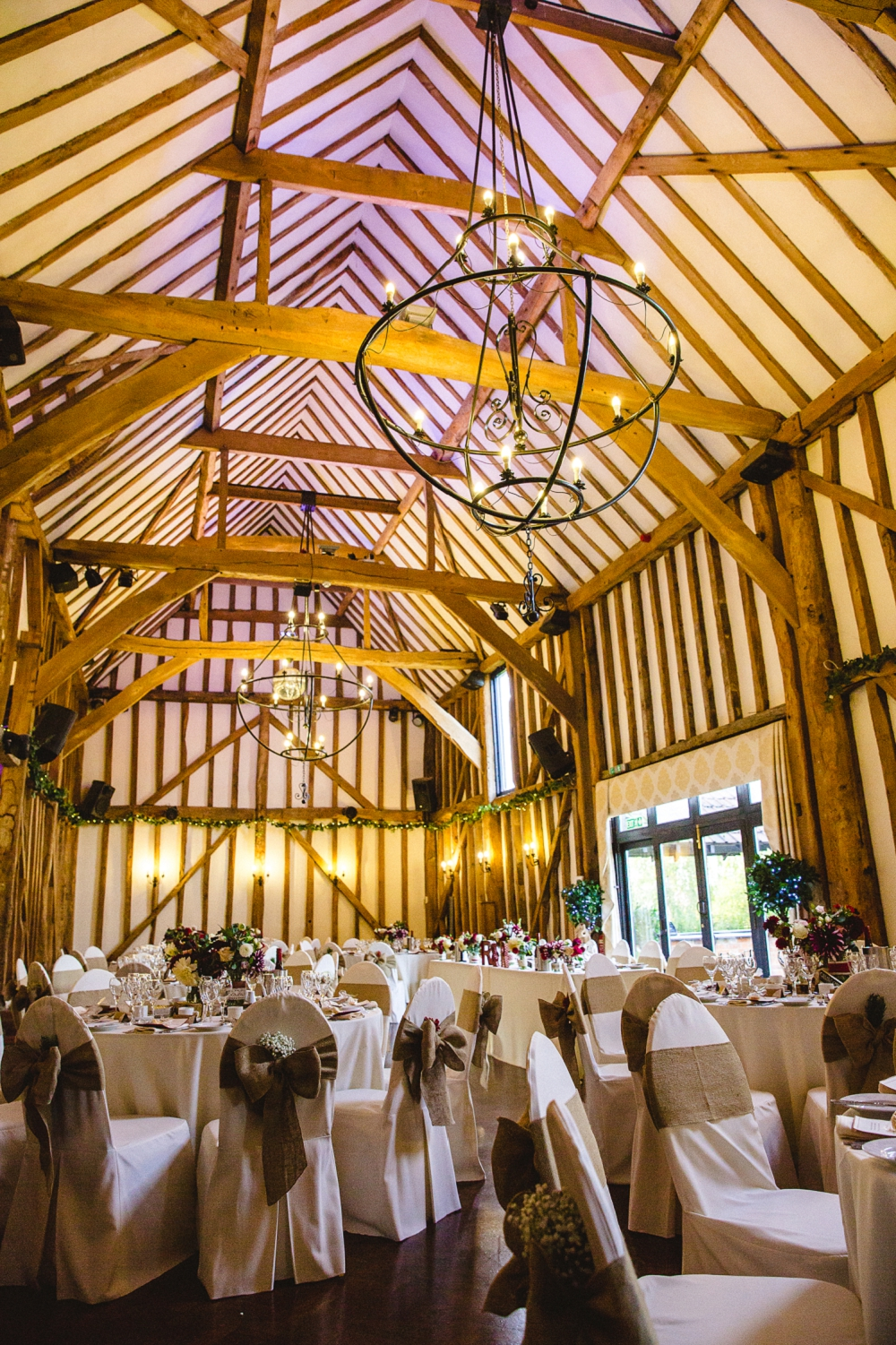 Crondon Park Wedding - Reception Barn
